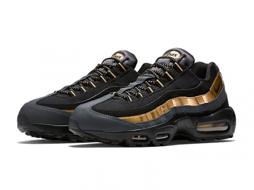 Nike Air Max 95 Black Gold фото 3