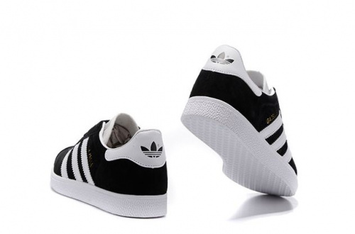 adidas Gazelle Black/ White фото 4
