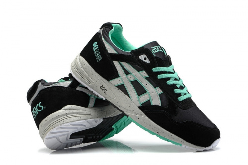 Asics Gel Saga Black Green фото 3