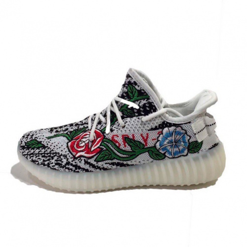 Adidas Yeezy 350 Boost white flowers