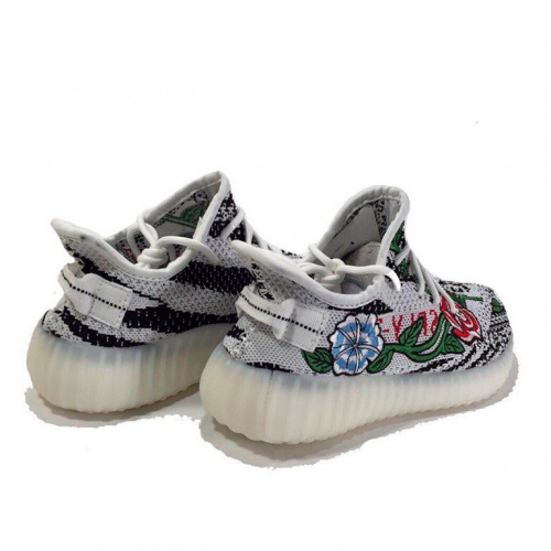Adidas Yeezy 350 Boost white flowers фото 3