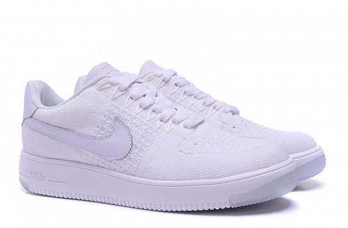 Nike Air Force 1 Flyknit White фото 2