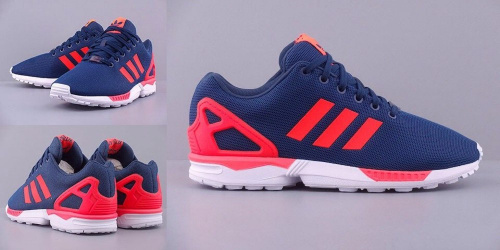 ADIDAS ZX FLUX BLUE/ORANGE/WHITE фото 2