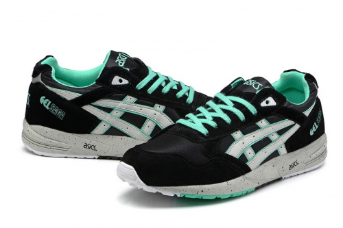Asics Gel Saga Black Green фото 4