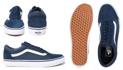 Vans Old Skool Blue/White фото 3