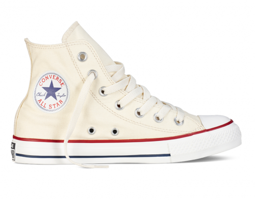 Converse All Star Chuck Taylor high молочные