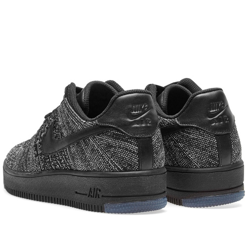 Nike Air Force 1 Flyknit Black-Grey фото 3