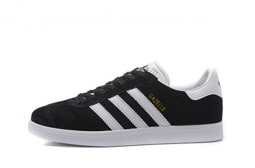 adidas Gazelle Black/ White фото 2