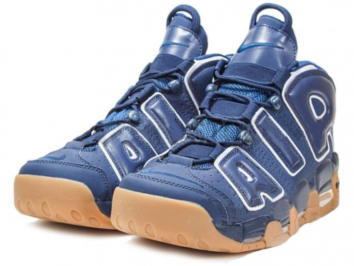 Nike Air More Uptempo Obsidian/Obsidian White Gum Light Brown фото 2