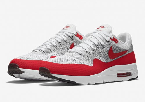 Nike Air Max 87 Flyknit White-red фото 2