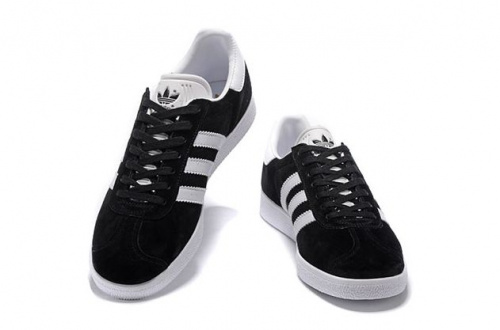 adidas Gazelle Black/ White фото 3