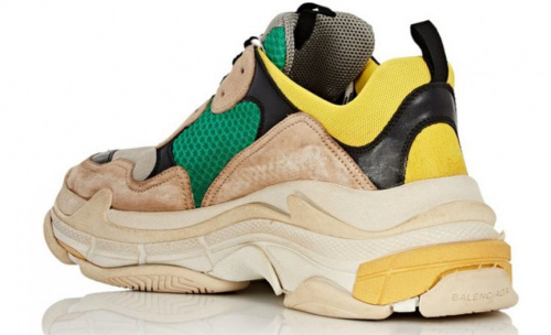 Balenciaga Triple S Green/Yellow/Beige фото 3