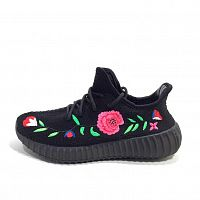 Adidas Yeezy Boost 350 Black Flowers