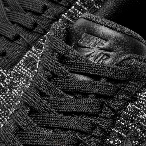 Nike Air Force 1 Flyknit Black-Grey фото 4